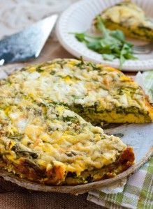 Crustless Arugula & Black Pepper Quiche with Four Cheeses - living nutrition