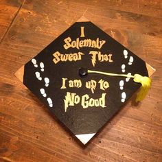 Pin for Later: 40 DIY Graduation Cap Ideas For Major Harry Potter Fans - Education interests Funny Graduation Caps, College Graduation Parties, Graduation Cap Designs, Graduation Cap Decoration, Graduation Diy, Graduation Quotes, Decorated Graduation Caps, Grad Parties, Son Birthday Quotes