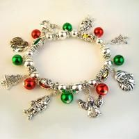 Make your own charm bracelet related to joyful Christmas