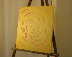 """Roses de pluie serie """"ors"""" astrid gollety acrylique sur toile"""