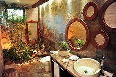 Salle de bain, toilettes et végétaux !