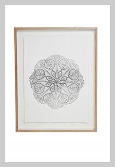 Black Flower Print | Lumiere Art + Co.