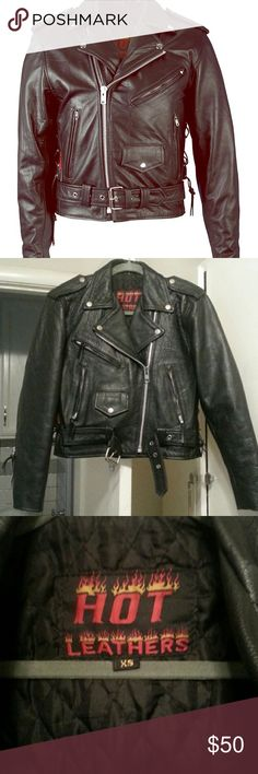 Leather Motorcycle Jacket All leather motorcycle jacket. Men's XS. Like new. Jackets & Coats Military & Field