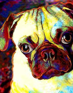 Custom Pug portrait :: artpaw.com