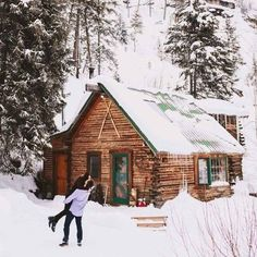 """In fact, no matter how little or large your Log house, Cabin or Barn house is? There's just that """"somethin' somethin' about the warmth, love & romance that always awaits! Winter Cabin, Cozy Cabin, Snow Cabin, Cozy Winter, Winter House, Log Cabin Kits, Cabins And Cottages, Log Cabins, Mountain Cabins"""