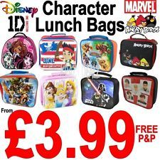 Official Licensed Character Insulated Lunch Bag School Disney Marvel  WENT FOR THIS DONT TOUCH WITH A BARGE POLE
