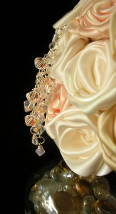 Antique White Cream & Nude Rose Brooch by EleganceOnTheAvenue, $169.00