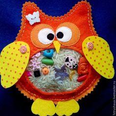 """Купить Искалка """"Совушка"""" - игрушки, сова игрушка, Искалка, фетр, рукоделие, фетр, рис, пуговицы"""