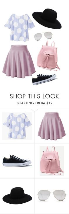 """Cute outfit"" by indrasavje01 on Polyvore featuring MANGO, Converse, Off-White and Sunny Rebel"