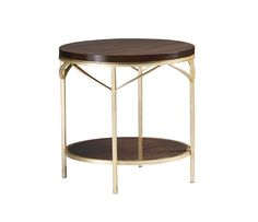 Venue Lamp Table finished in Gold Leaf