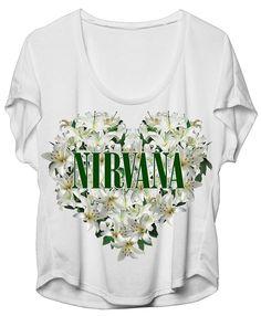 Nirvana Floral Heart Dolman Girls Shirt #Nirvana