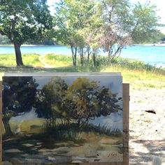 One of the painting I did this Summer #watercolorpainting of a #trees on #archespaper by Yong Chen #yongchen #undersun #outdoors instadaily #picofday #artoftheday #sketching #illustration #watercolor #pleinairpainting #drawing #graphite #charcoal #art