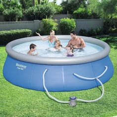 Bestway Fast Set Swimming Pool Blue Set With 530 Gph Filter Pump 13 X 33 Inflatable Swimming Pool Swimming Pools Above Ground Swimming Pools