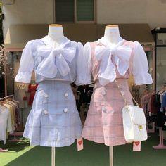 """rose quartz and serenity outfits for carats ♡ — a thread Kawaii Fashion, Cute Fashion, Asian Fashion, Boho Fashion, Girl Fashion, Fashion Design, Fashion Trends, Fashion Hair, India Fashion"