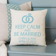 Personalized Keep Calm and Be Married Pillow Walmart