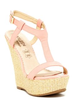 Kayleen by Los Angeles Ausai Wedge Sandal on HauteLook Cute Shoes, Me Too Shoes, Wedge Sandals, Wedge Shoes, Heeled Boots, Shoe Boots, Beautiful Shoes, Pumps Heels, Fashion Shoes