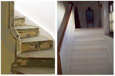 """Meine wunderschöne Treppe. Die hat mir allerdings ein Maler gestrichen. Ich war irgendwann bis zu meinem Einzug """"zeitknapp"""" ."""