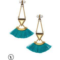 Stella & Dot Lotus Tassel Chandeliers ($49) ❤ liked on Polyvore featuring jewelry, earrings, stella dot jewelry, multi color earrings, multi colored earrings, stud earrings and vintage jewelry