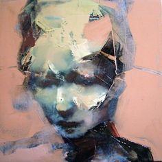darksilenceinsuburbia:  Paul W. Ruiz. Ausencia XXI, 2006. Oil on canvas, 30 x 30cm. http://www.paulwruiz.com/