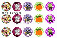 NEW Halloween bottle cap images for YOU :)