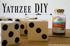 AD Lleva la diversión a tu patio construyendo tu propio juego de Yathzee DIY, conoce Zarbee's Naturals Kid's Multivitaminas de venta en @walmart  y obtén ahorros de 5 dólares con el cupón imprimible o el rebate disponibles. #BeeYuckFree