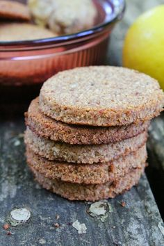 Chewy Lemon Ginger Cookies {AIP}. You could use a different fruit and/or flavour of course. Look yummy.