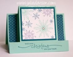 Julie's Stamping Spot -- Stampin' Up! Project Ideas Posted Daily: Serence Snowflakes Horizontal Center Step Card