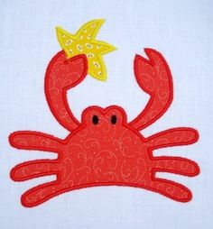 Crab Applique Machine Embroidery Three by DigitizedCreations