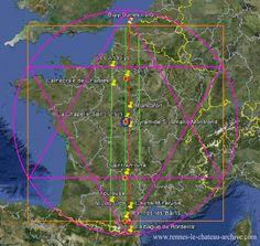 La géographie sacrée de la France - Partie 2... #Art #Artiste