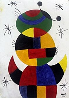 El Nino - Oil Painting on Paper - Joan Miro  1921  30 x 21 cm