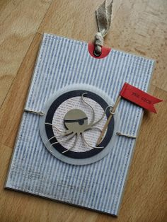 """Jenny's Papierwelt: Geburtstagskarte (Ziehkarte) für """"kleine Piraten"""""""