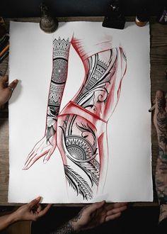 Tattoo Femeninos, Tattoo Set, Arm Band Tattoo, Body Art Tattoos, Tribal Tattoos, Family Tattoo Designs, Maori Tattoo Designs, Mandala Tattoo Design, Small Girl Tattoos