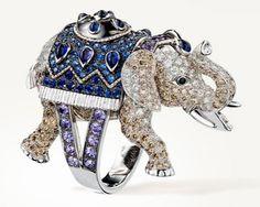 Elephant ring by Boucheron