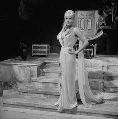 Czech-American actress Olga Schoberová (or Olinka Bérová) on the film set of…