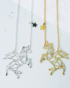 Monoceros Winged Unicorn Constellation Necklace — Eclectic Eccentricity Vintage Jewellery