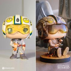 """John Lucas Reyes (@riverspoons.studios) on Instagram: """"Here's the before and after side by side comparison with the original Funko Pop Rey and my…"""""""