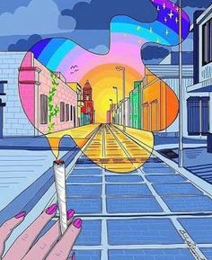 New Trippy Art Hippie Psychedelic 51 Ideas Trippy Drawings, Art Drawings, Art Pop, Marijuana Funny, Dope Kunst, Trippy Painting, Hippie Painting, Painting Art, Hippie Art