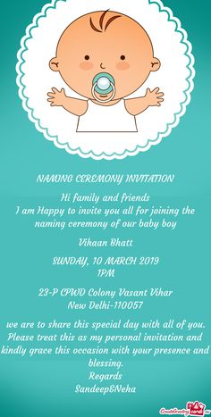 Baby Boy Invitations, Party Invitations, Naming Ceremony Invitation, Baby Words, Our Baby, Baby Care, Event Decor, Special Day, Decoration