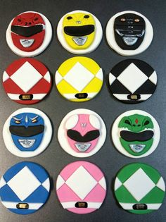 6 Fondant Mighty Morphin Inspired Power Rangers by MaddysSugarArt