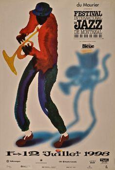 1998 Original Poster, Festival International de Jazz de Montréal - Yves…