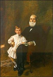 Portrait of Master Otis Barton and his Grandfather, 1903  William Merritt Chase