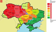 Ukraine Map of protests ukraine political crisis