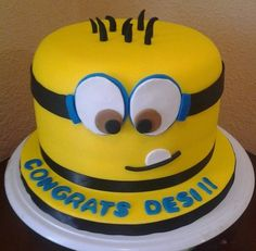 Despicable Me Cake...or maybe this one for my birthday!