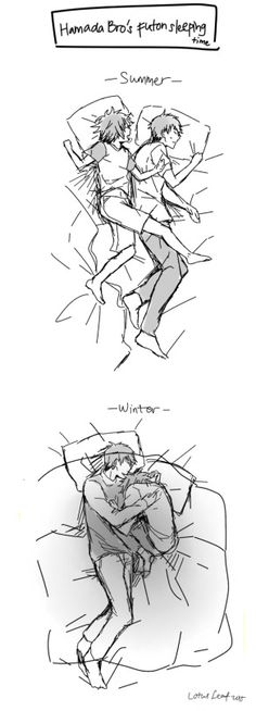 The first one is SERIOUSLY me and my lil' sis whenever she sleeps with me (she's 4) SHE LITERALLY KICKS ME AND ENDS UP ON HEAD TOWARD THE OPPISITE SIDE OF THE BED WITH HER FEAT ALL OVER ME!!!