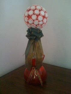 My version of a peppermint topiary!