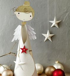 1 million+ Stunning Free Images to Use Anywhere Paper Christmas Decorations, Holiday Ornaments, Christmas Makes, Christmas Art, Angel Crafts, Christmas Crafts, Childrens Christmas, Paper Crafts Origami, Theme Noel