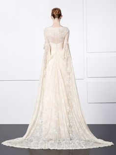 Ericdress A-Line Long Sleeves Lace Evening Dress With Appliques And Beading 12219758 - Ericdress.com