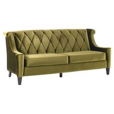 barrister sofa in olive green