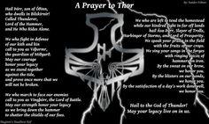 Prayer to Thor.