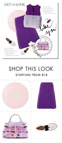 """All about violet"" by girl-with-ideas ❤ liked on Polyvore featuring Deborah Lippmann, Sonia by Sonia Rykiel, Fendi and Bass"